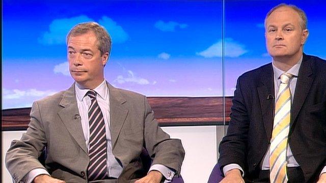 Nigel Farage and Stewart Jackson