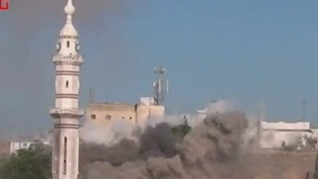 Continued shelling in the Syrian city of Homs
