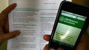HMRC tax forms
