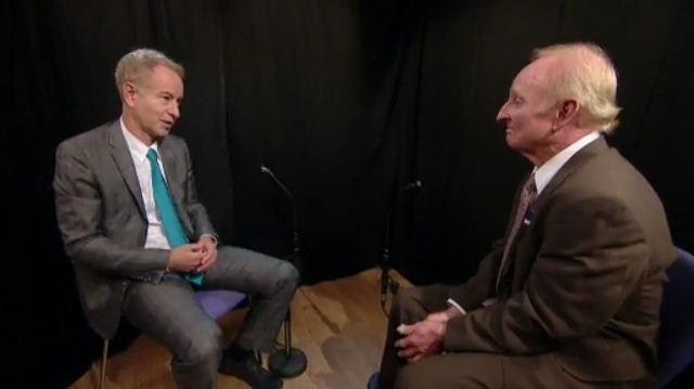 John McEnroe and Rod Laver
