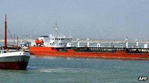 An Iranian oil tanker - archive shot, 2004
