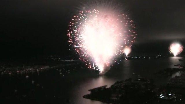 Screen shot of failed fireworks