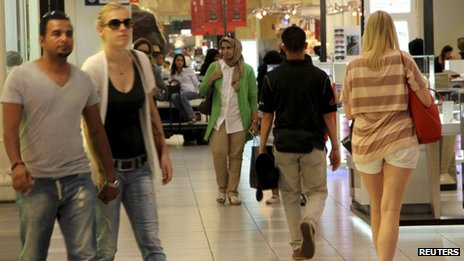 c4fa4b2994f5 The Ibn Batutta Mall in Dubai Dubai s many extravagant shopping malls  require shoppers to dress modestly