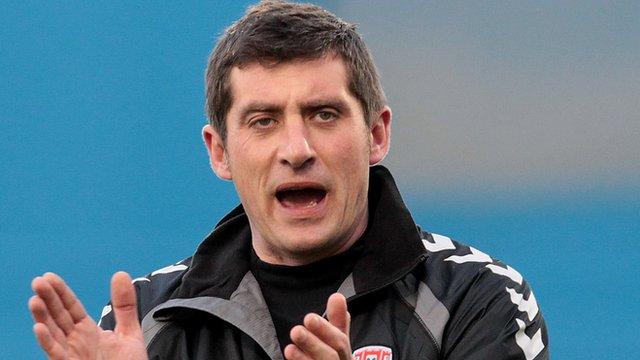 Derry City manager Declan Devine