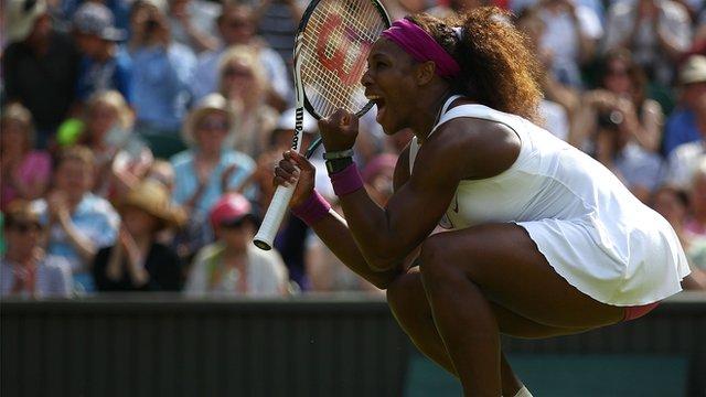 Four-time Wimbledon singles champion Serena Williams