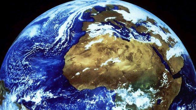 Meteosat colour enhanced image