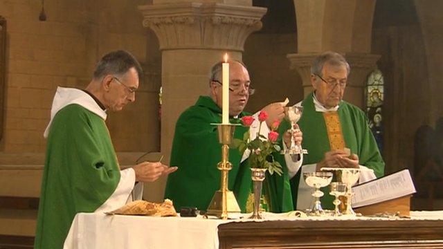 Vicars at an altar