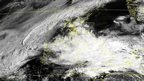 A satellite image showing clouds covering Great Britain