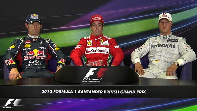British Grand Prix qualifying top three drivers