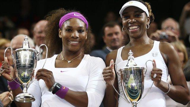 Wimbledon Ladies' Doubles champions Serena and Venus Williams