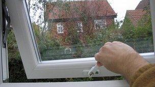 Double glazed window in house