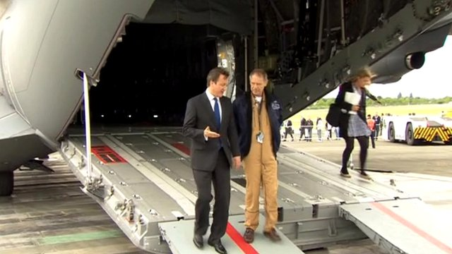 David Cameron at Farnborough Air Show