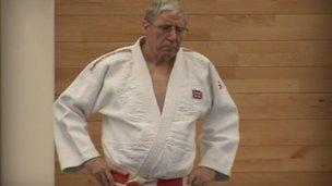 Alan Roberts in his Judo kit.