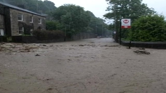 The scene near Hebden Bridge station
