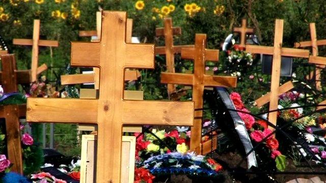 Graveyard in Krymsk