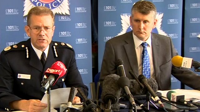 Chief Constable Jim Barker-McCardle (left) and Detective Chief Superintendent Liam Osborne