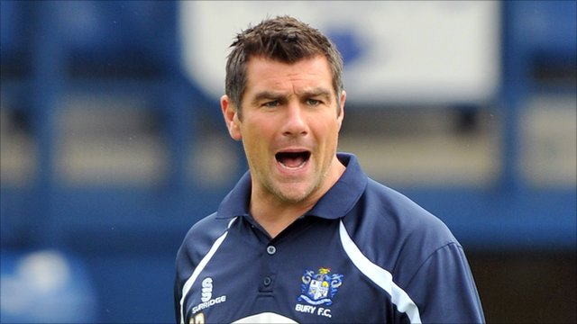 Bury manager Richie Barker