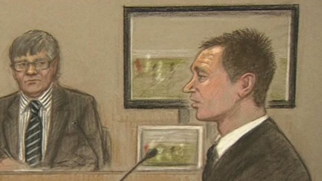Court drawing of John Terry