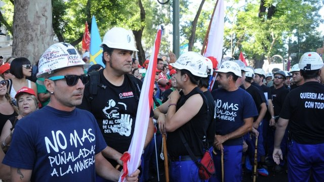 Miners march in Madrid