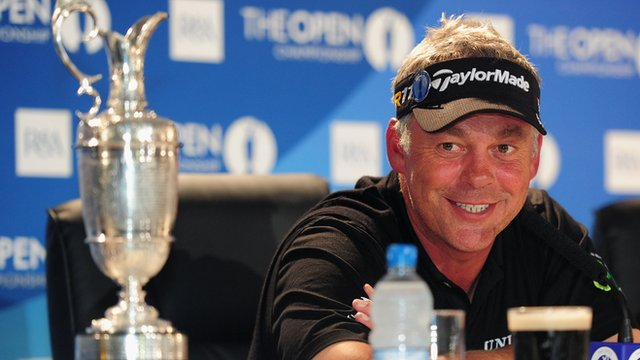 Darren Clarke after winning the Open in 2011