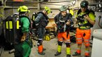 Brigadesmen at Mines Rescue Service in Mansfield Woodhouse