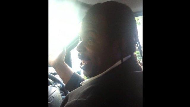 Taxi driver O'Niel Blackstock