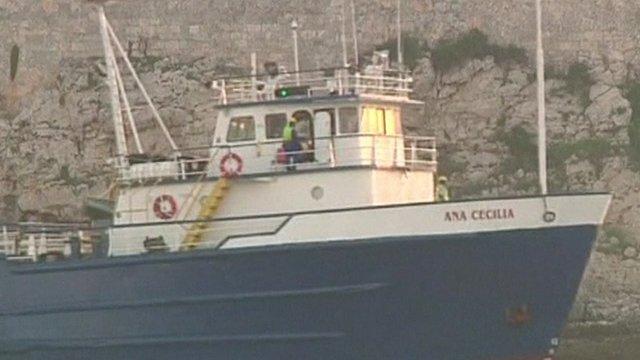 The Bolivian-flagged vessel Ana Cecilia in Havana Harbour