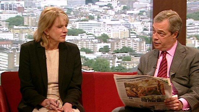 Ann Treneman and Nigel Farage