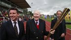 Sebastian Coe with Sir Roger Bannister