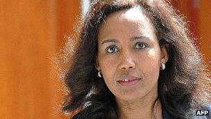Azeb Mesfin, wife of Ethiopian Prime Minister Meles Zenawi, July 2012