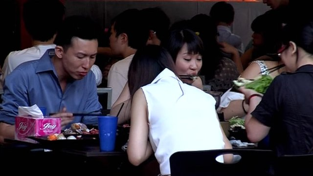 Diners in Singapore