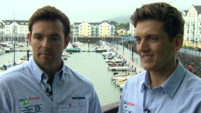 Matt McGovern and Ryan Seaton will compete in the 49er sailing class at the Olympics