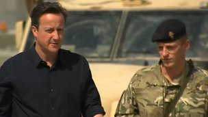David Cameron on a visit to Camp Bastion in Helmand