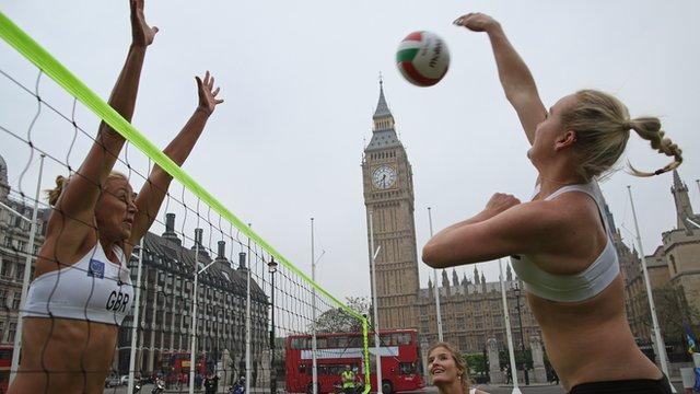 Team GB beach volleyball players