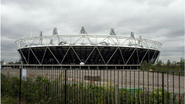 Y Stadiwm Olympaidd yn Llundain