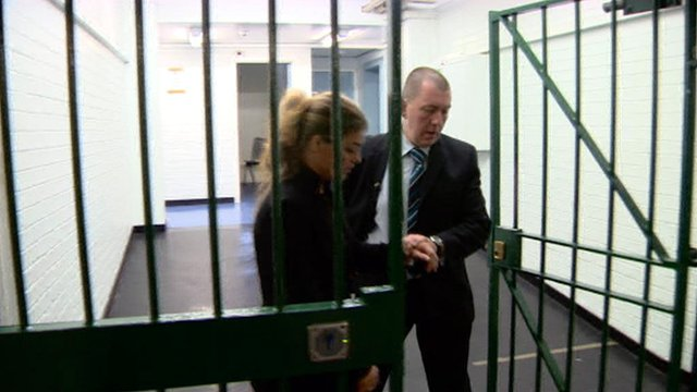 Fiona Walker was shown what happens after a suicidal person is arrested