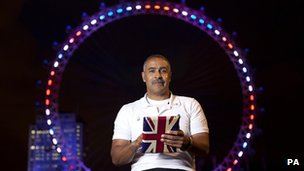 Daley Thompson at the London Eye
