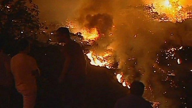 Portuguese wildfire