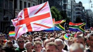 Gay Pride March, central London