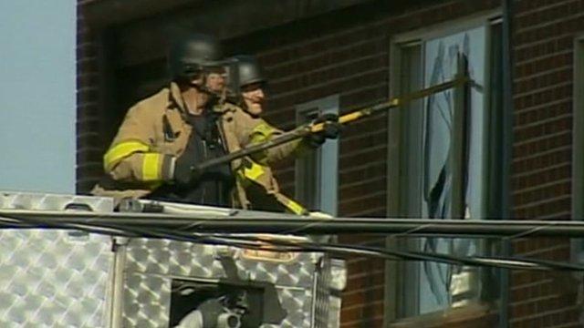 Specialist teams at gunman's flat