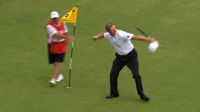 Ernie Els wins the 2012 Open
