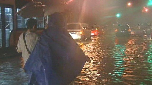 Heavy rainfall in Beijing