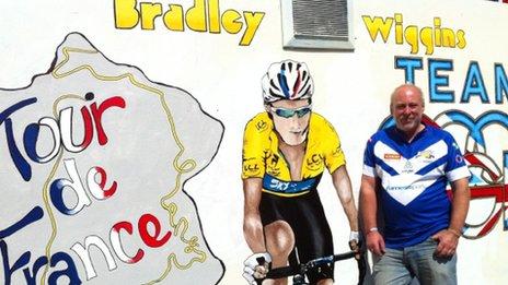 Bradley Wiggins mural in Eccleston