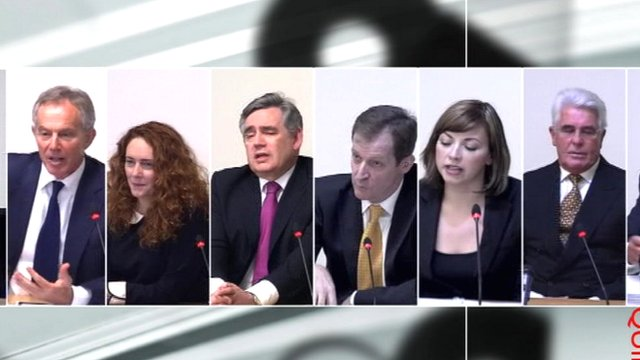 Some of the witnesses called to the Leveson inquiry