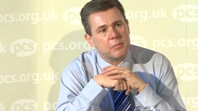 Public and Commercial Services general secretary Mark Serwotka