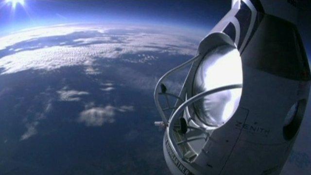 Capsule over Earth