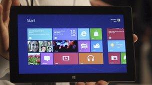 Windows 8 touch screen gadget