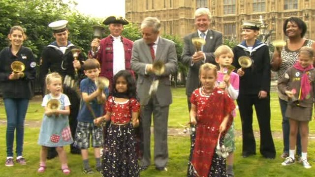 Bell ringing at the Palace of Westminster