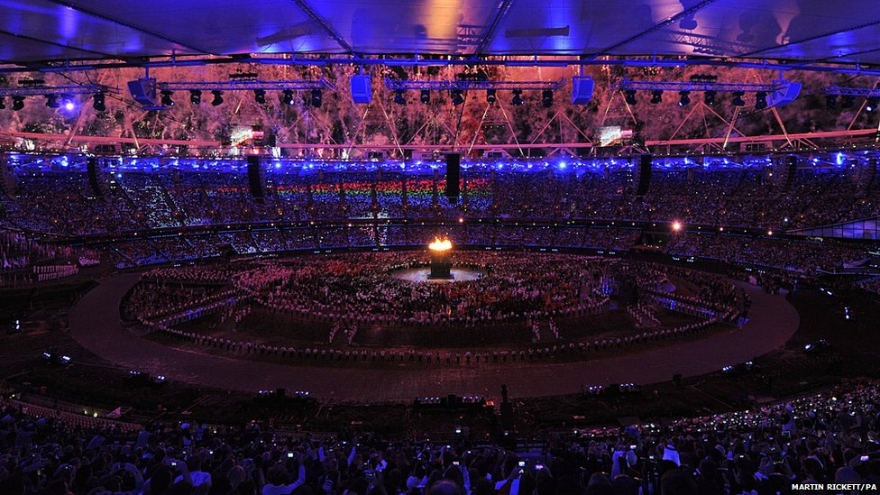 BBC News - In pictures: Olympic opening ceremony