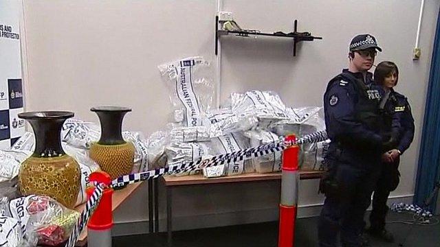 The drugs were hidden in terracotta pots